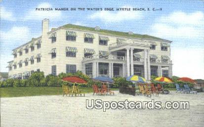 Patricia Manor - Myrtle Beach, South Carolina SC Postcard