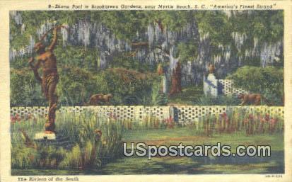 Diana Pool, Brookgreen Gardens - Myrtle Beach, South Carolina SC Postcard