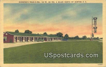 Christie's Tour-O-Tel - Sumter, South Carolina SC Postcard