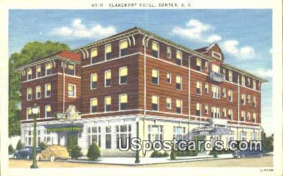 Claremont Hotel - Sumter, South Carolina SC Postcard
