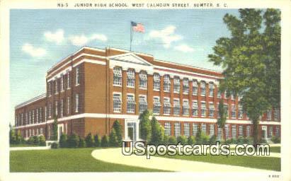 Junior High School - Sumter, South Carolina SC Postcard