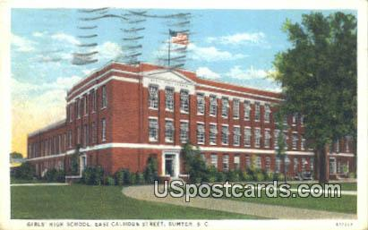 Girls' High School - Sumter, South Carolina SC Postcard