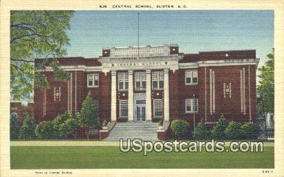 Central School - Sumter, South Carolina SC Postcard