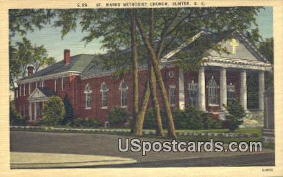 St Marks Methodist Church - Sumter, South Carolina SC Postcard