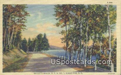 Bailey's Beach - Ridgeland, South Carolina SC Postcard