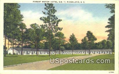 Forest Motor Hotel - Ridgeland, South Carolina SC Postcard