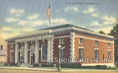US Post Office - Laurens, South Carolina SC Postcard