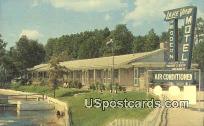 Lake View Motel - Hartsville, South Carolina SC Postcard