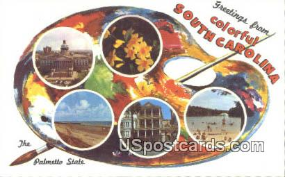 Greetings from, South Carolina Postcard      ;      Greetings from, SC