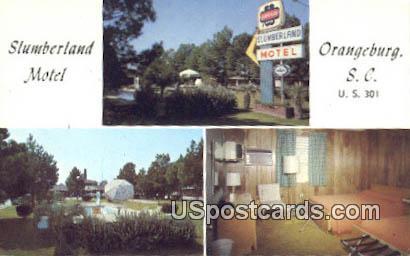 Slumberland Motel - Orangeburg, South Carolina SC Postcard