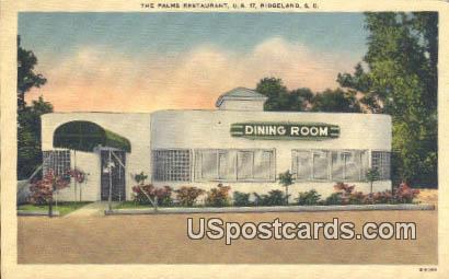 Palms Restaurant - Ridgeland, South Carolina SC Postcard