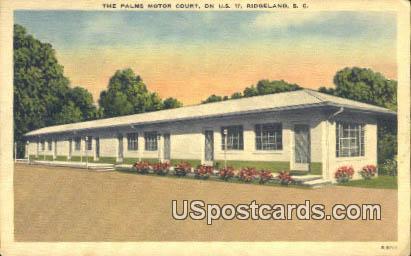 Palms Motor Court - Ridgeland, South Carolina SC Postcard
