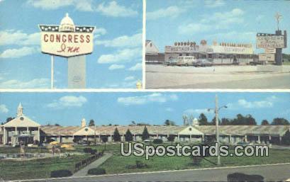 Congress Inn & Restaurant - Santee, South Carolina SC Postcard