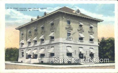 US Post Office - Florence, South Carolina SC Postcard