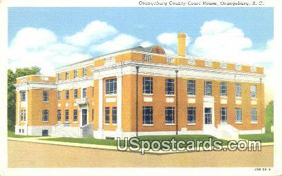 Orangeburg County Court House - South Carolina SC Postcard