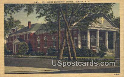 St Mark's Methodist Church - Sumter, South Carolina SC Postcard