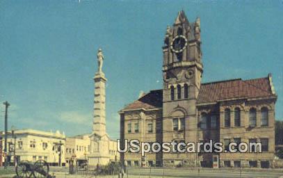 Court House & Square - Anderson, South Carolina SC Postcard