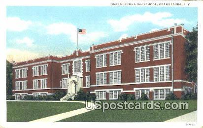 Orangeburg High School - South Carolina SC Postcard
