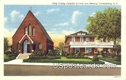 Holy Trinity Catholic Church & Rectory - Orangeburg, South Carolina SC Postcard