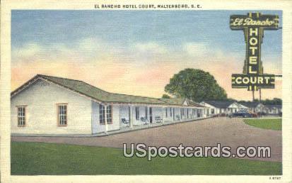 El Rancho Hotel Court - Walterboro, South Carolina SC Postcard