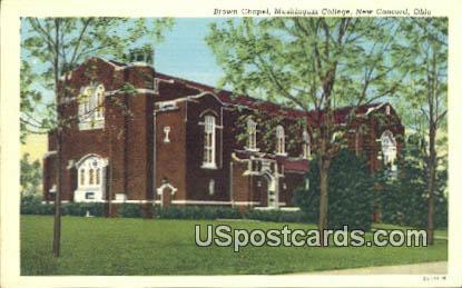 Brown Chapel, Muskingum College - New Concord, South Carolina SC Postcard