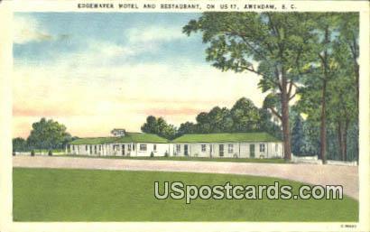 Edgewater Hotel & Restaurant - Awendaw, South Carolina SC Postcard