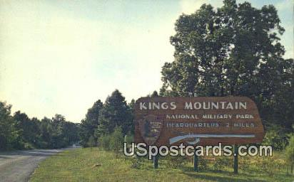 Kings Mountain National Military Park, South Carolina Postcard      ;      Kings Mountain National M