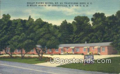Holly Farms Motel - Greenville, South Carolina SC Postcard