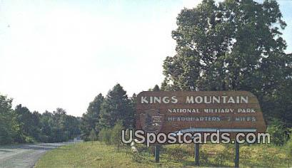Eastern Entrance - Kings Mountain National Military Park, South Carolina SC Postcard
