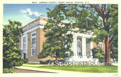 Sumter County Court House - South Carolina SC Postcard
