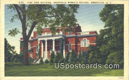 Woman's College of Furman University - Greenville, South Carolina SC Postcard