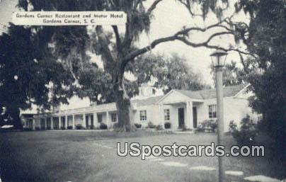 Gardens Corner Restaurant & Motor Hotel - South Carolina SC Postcard