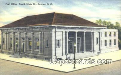 Post Office - Sumter, South Carolina SC Postcard