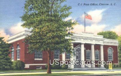 Post Office - Cheraw, South Carolina SC Postcard