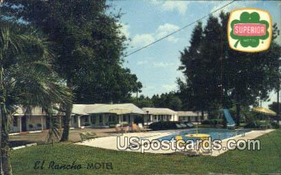 El Rancho Motel - Walterboro, South Carolina SC Postcard