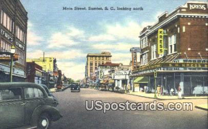 Main Street - Sumter, South Carolina SC Postcard