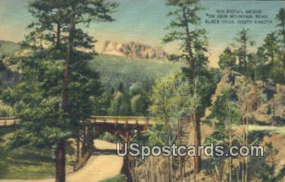 Pigtail Bridge - Black Hills, South Carolina SC Postcard