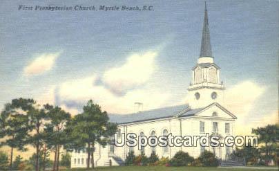 First Presbyterian Church - Myrtle Beach, South Carolina SC Postcard
