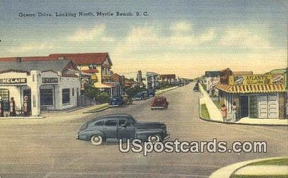 Ocean Drive - Myrtle Beach, South Carolina SC Postcard