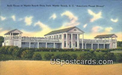 Bath House, Myrtle Beach State Park - South Carolina SC Postcard