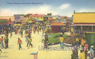 Street Scene - Atlantic Beach, South Carolina SC Postcard