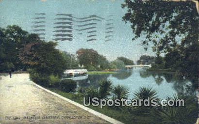 Lake, Magnolia Cemetery - Charleston, South Carolina SC Postcard