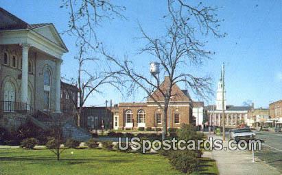 Broad Street - Bennettsville, South Carolina SC Postcard