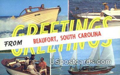 Beaufort, SC Postcard     ;     Beaufort, South Carolina