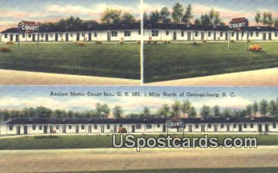 Azalea Motor Court Inc - Orangeburg, South Carolina SC Postcard