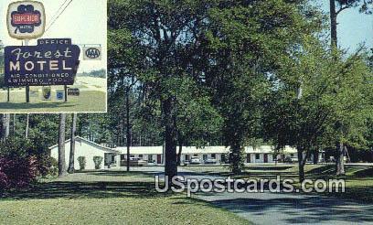 Forest Motel - Ridgeland, South Carolina SC Postcard