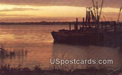 Beaufort River - South Carolina SC Postcard