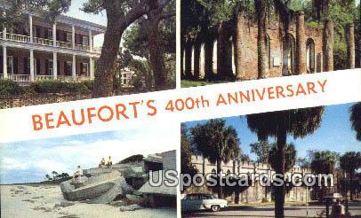 Quadricentennial 1562-1962 - Beaufort County, South Carolina SC Postcard