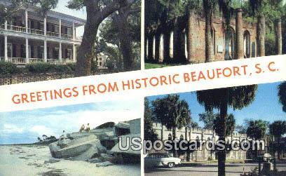 Beaufort County, South Carolina Postcard      ;      Beaufort County, SC