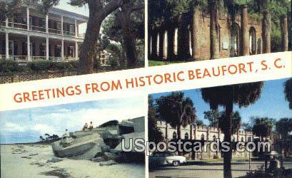 Beaufort County, SC Postcard     ;     Beaufort County, South Carolina